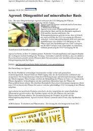 Bericht über Agrosol in Agrarheute 9.3.2012 - Papst.ch