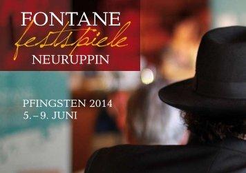 Das ausführliche Programmheft der Fontane-Festspiele 2014