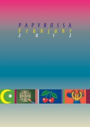 Frühjahr 2012 - beim PapyRossa Verlag!