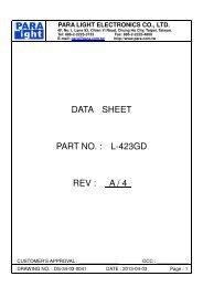 data sheet part no. : l-423gd rev : a / 4 - Para Light Electronics Co. Ltd.