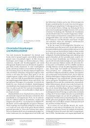 Chronische Erkrankungen und Multimorbidität