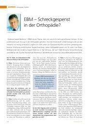 Schreckgespenst in der Orthopädie? - Praxis Dr. med. Luzi Dubs