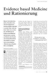 Evidence based Medicine und Rationierung. - Paracelsus heute