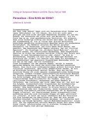 Paracelsus – Eine Kritik der Ethik? - Stiftung Paracelsus heute