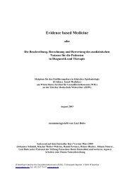 1. Warum Evidence based Medicine - Stiftung Paracelsus heute