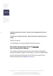 Das ganze Buch - Stiftung Paracelsus heute