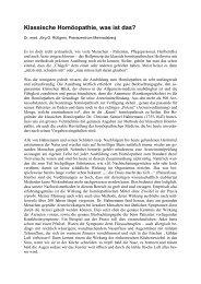 Klassische Homöopathie, was ist das? - Stiftung Paracelsus heute