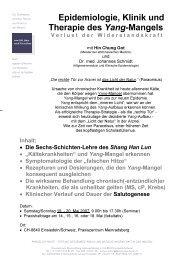 Epidemiologie, Klinik und Therapie des Yang-Mangels - Stiftung ...