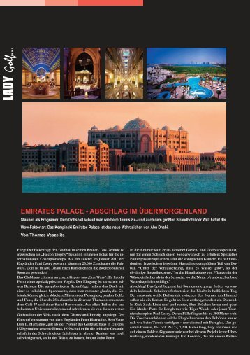 Emirates Palace, Abu Dhabi - Paradise Productions - Berlin