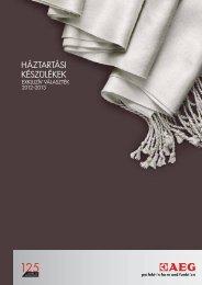 AEG szabadonálló katalógus 2012-2013 www.parafalo.hu ...