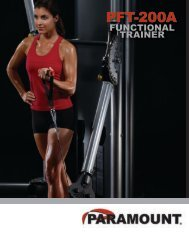 spring-loaded foot - Paramount Fitness