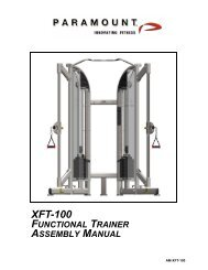 XFT-100 - Paramount Fitness