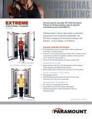 122010 XFT-300 Intro Flyer.indd - Paramount Fitness