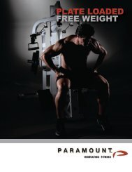 plate loaded free weight - Paramount Fitness