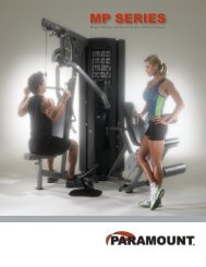 Paramount Fitness Corp. © 2006 Printed in USA 5
