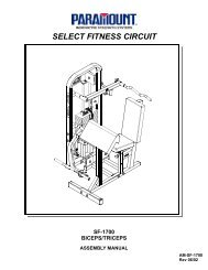 SF-1700 Bicep/Tricep - Paramount Fitness