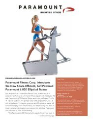 Paramount Fitness Corp. Introduces the New Space-Efficient, Self ...