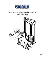 advanced performance system installation - Paramount Fitness