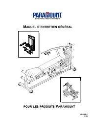 manuel d'entretien général - Paramount Fitness