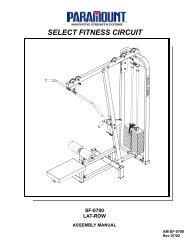 SF-0700 Lat/Row - Paramount Fitness