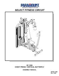 SF-1500 Chest Press/Butterfly - Paramount Fitness