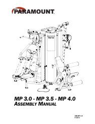 mp 3.0 - mp 3.5 - mp 4.0 assembly manual - Paramount Fitness