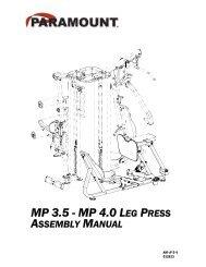 MP 3.5 - MP 4.0 LEG PRESS - Paramount Fitness