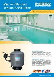 Micron Filament Wound Sand Filter - Paramount Pools