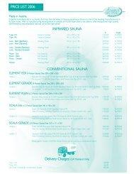 Domo UK Price List 2006.qxd - Paramount Pools