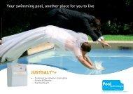 Just Salt Plus - Pool Tech brochure - Paramount Pools