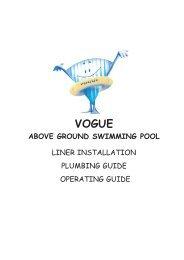 vogue above ground swimming pool - Paramount Pools