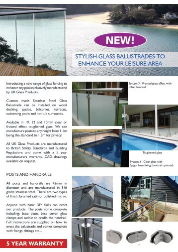 STYLISH GLASS BALUSTRADES TO ENHANCE ... - Paramount Pools