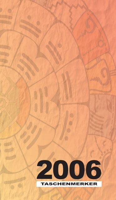 Maya-Kalender 2006 Taschenmerker