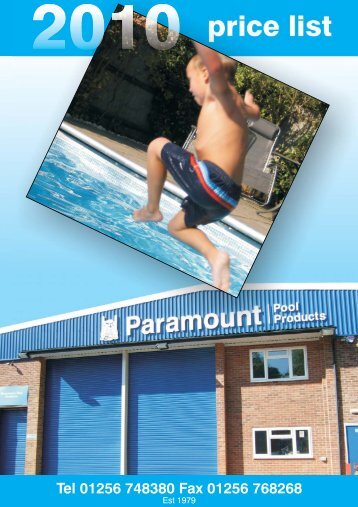 Quick Reference Guide - Paramount Pools