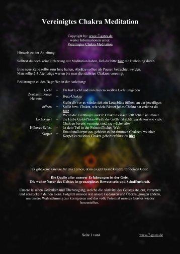 Anleitung Vereinigtes Chakra
