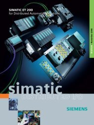 SIMATIC Distributed IO - SIMATIC ET 200 for Distributed Automation ...