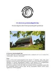 41. Jírovcovy protozoologické dny - Česká parazitologická společnost
