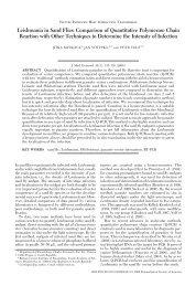 Leishmania in Sand Flies: Comparison of Quantitative ... - BioOne