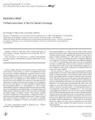 Experimental Parasitology