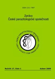 Číslo 1 - Česká parazitologická společnost