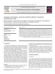 Cutaneous leishmaniasis caused by Leishmania infantum ...