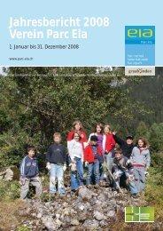 Jahresbericht 2008 Verein Parc Ela
