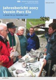 Jahresbericht 2007 Verein Parc Ela