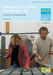 Jahresbericht 2009 Verein Parc Ela
