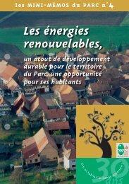 Les énergies renouvelables, - Parc naturel régional des Vosges du ...