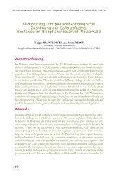 Verbreitung und pflanzensoziologische Zuordnung der Calla ...
