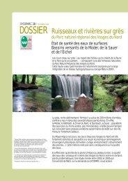 dossier - Parc naturel régional des Vosges du Nord