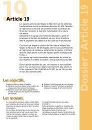 Dossier :A rticle 19 - Parc naturel régional des Vosges du Nord