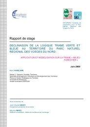 Télécharger le rapport en pdf - Parc naturel régional des Vosges du ...