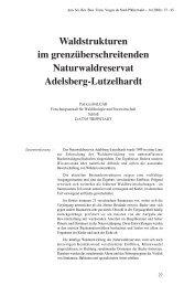 Waldstrukturen im grenzüberschreitenden Naturwaldreservat ...
